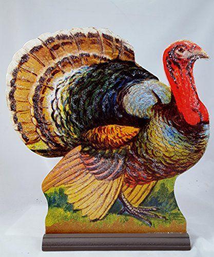 Thanksgiving day decor shop 170 pinterest thanksgiving turkey 13 wood dummy board centerpiece bethany lowe glittered art thanksgiving negle Gallery