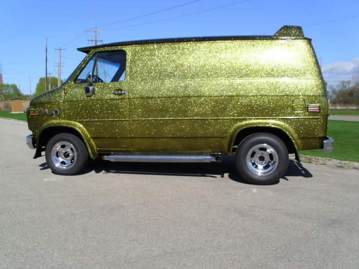 Old School Dodge Van , Do It In a Van - I was jus' thinkin', that had to been an Expensive (metal-flake) paint job . . .