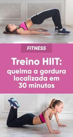 Um bom treino para queimar gordura em pouco tempo é o treino HIIT que consiste num conjunto de exercícios de alta intensidade que eliminam a gordura localizada em apenas 30 minutos por dia de forma mais rápida e divertida.