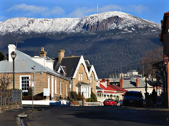Snow on Mt Wellington, Hobart. Photo by Chris Coburn