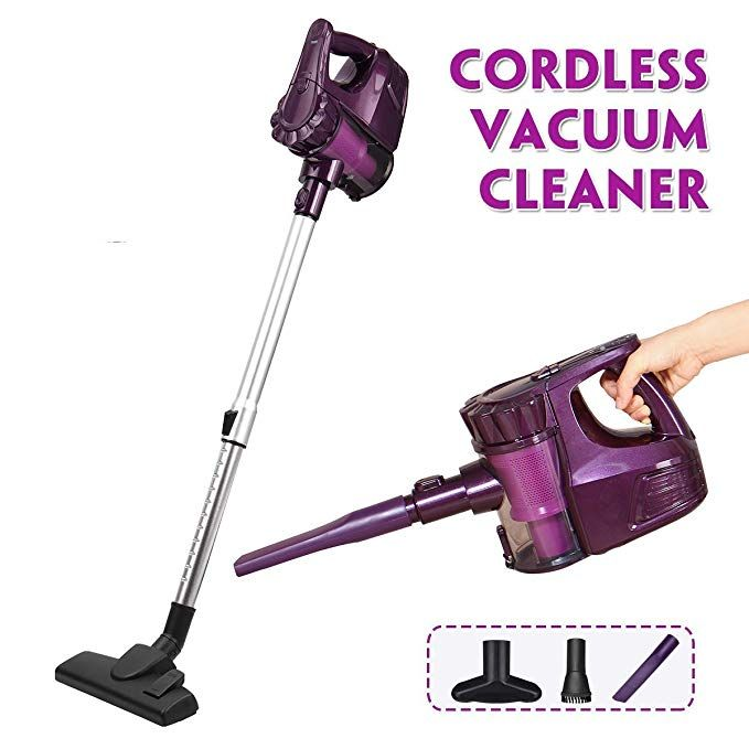 Kingso Vacuum Cleaner Cordless 2 In 1 Lightweight Upright Handheld Stick Vacuum Cleaner With Led Light Suc Vacuum Cleaner Cordless Vacuum Cleaner Stick Vacuum