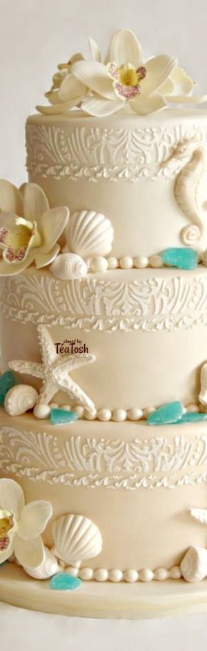 ❇Téa Tosh❇ Beach Theme Wedding Cake