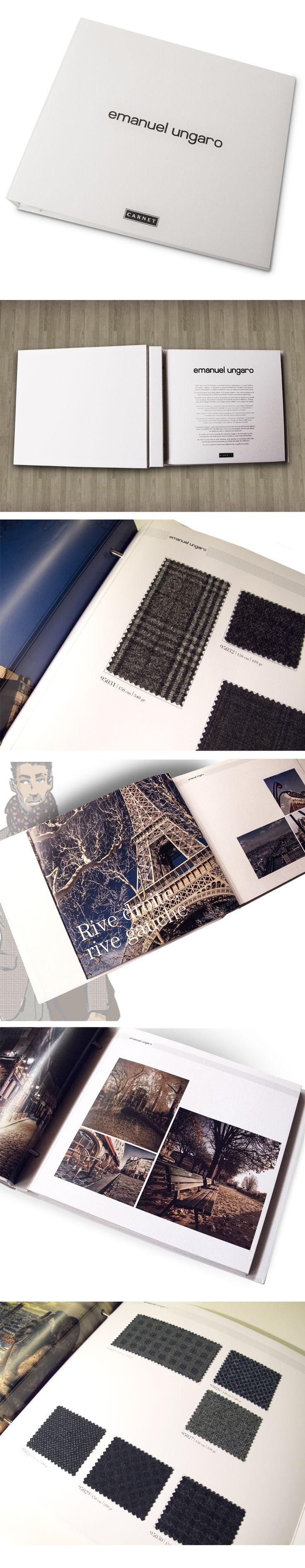 Carnet Ratti, Gruppo Marzotto ha commissionato a Bcentric, il nuovo progetto grafico e creativo della linea di bench tessuti per Emanuel Ungaro. In collaborazione con lo stilista Philippe Paubert, creatore della linea tessuti Ungaro, nasce il catalogo Autunno/Inverno 2015/2016.