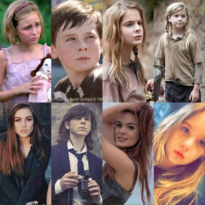 Madison Lintz, Chandler Riggs, Brighton Sharbino & Kyla Kenedy through the years