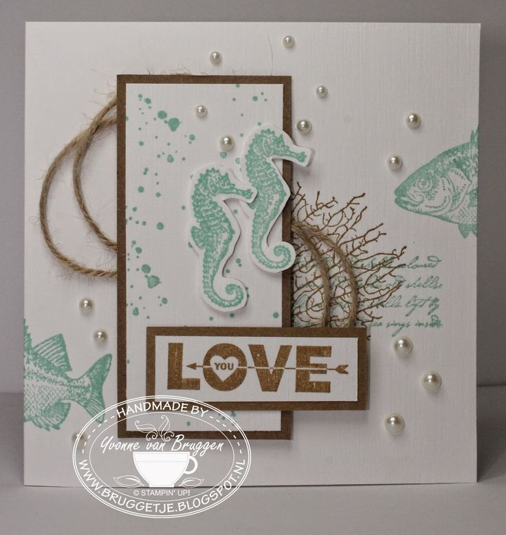 Yvonne's Stampin' & Scrap Blog: Stampin' Up! By the Tide card