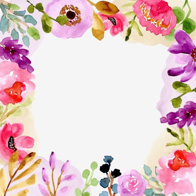 Sweet Watercolor Floral Frame Floral Flower Watercolor Png And
