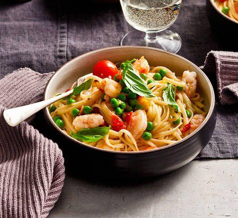 Linguine with prawns. Recipe Karen Martini - Better Homes and Gardens.