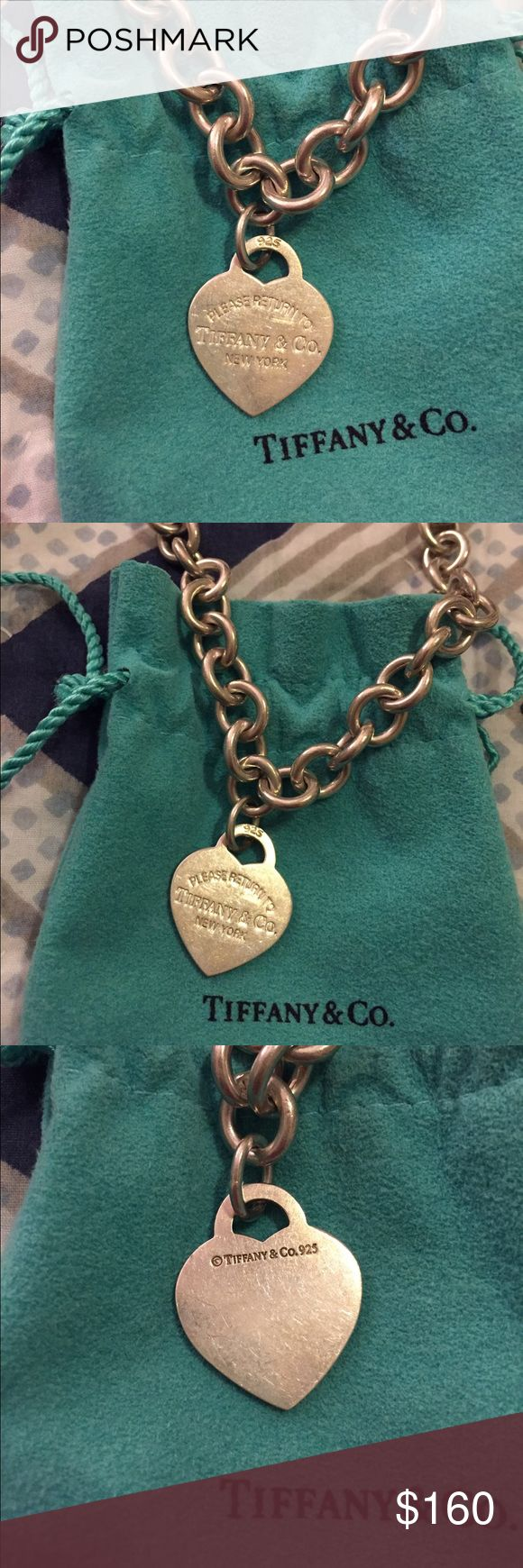 "Classic Tiffany & Co. Silver Necklace Part of the ""Return to Tiffany"" collection. Beautiful genuine Tiffany necklace!! Slightly worn and minor scratches but still beautiful and classic. Very timeless. Comes with original pouch. Tiffany & Co. Jewelry Necklaces"