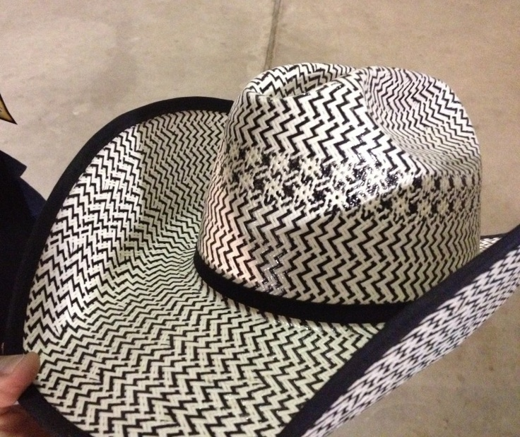 black and white straw western hat | Black & White American Straw | Barbara's Custom Hats