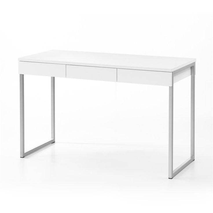 Tvilum 80106 Whitman Plus Desk White Desk With Drawersbedroom