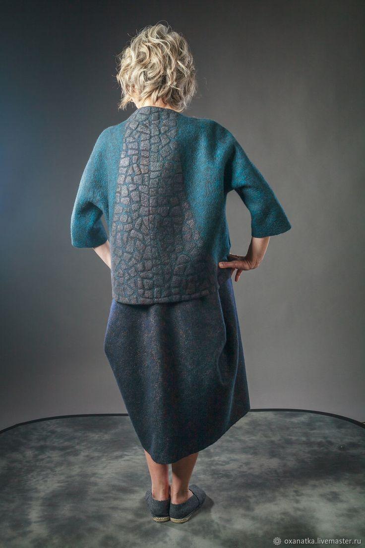 Войлочная куртка Ночное рандеву – купить в интернет-магазине на Ярмарке Мастеров с доставкой - FLM1ZRU   Москва