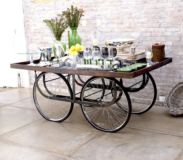 Bicycle Wheel Table