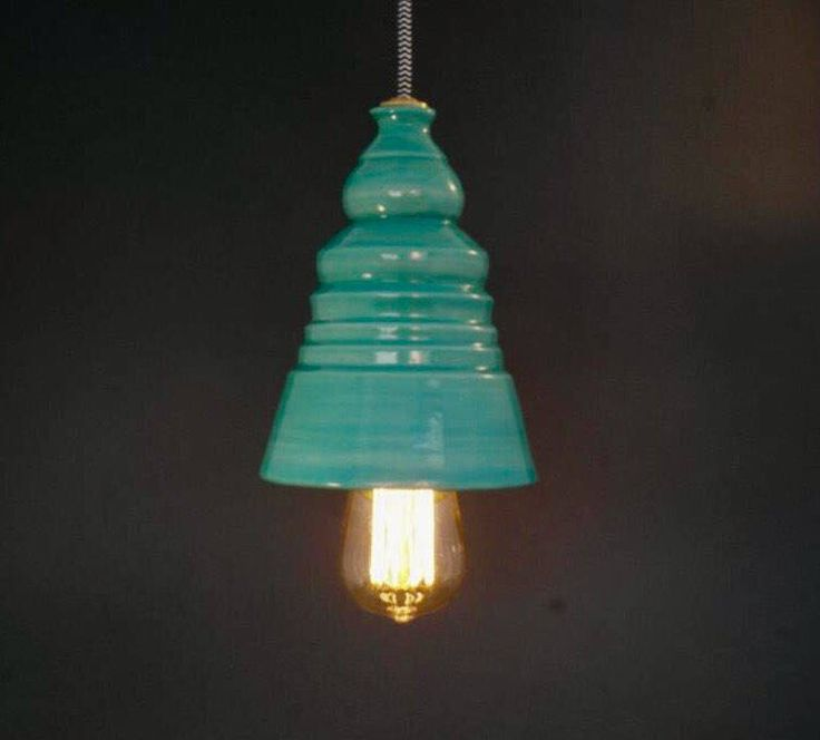Excited to share the latest addition to my #etsy shop: Turquoise lamp, Bedroom fixture ,Hanging lamp ,ceramic lamp , pendant lighting ,ceiling light , hanging light fixture
