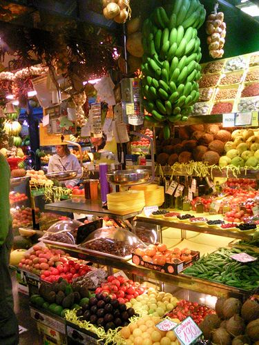 Las Palmas Fruit Market on Gran Canaria, Spain: http://www.europealacarte.co.uk/blog/2011/07/18/european-markets/