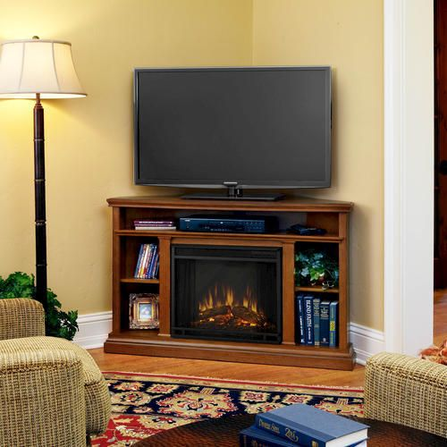 Real Flame Churchill Corner Electric Fireplace/Entertainment Center at Menards®