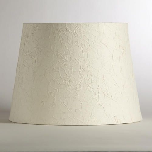 Natural, Textured, And Full Of Character, Our Crinkled White Paper Table  Lamp Shade Provides The Perfect Finish To Any Lighting Solution.