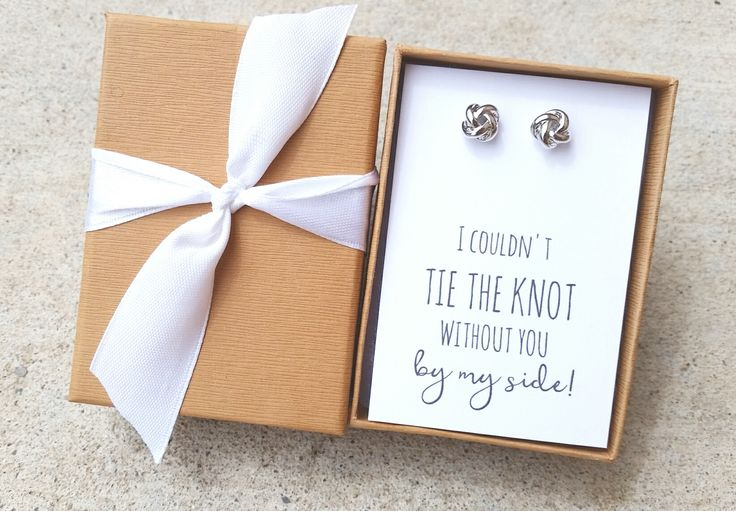 Knot Bridesmaid Earrings/Bridesmaid Gifts/Bridesmaid Proposal