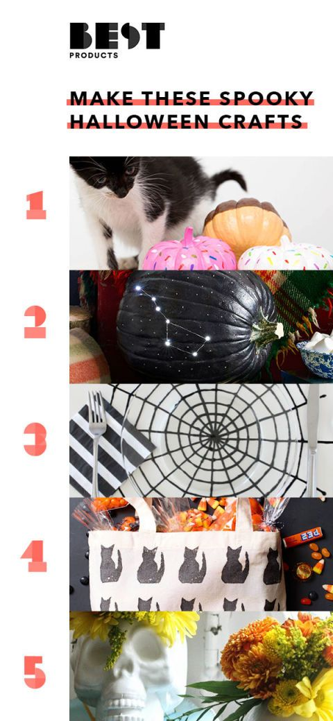 make these cool halloween crafts with 5 supplies or fewer - Best Halloween Celebrations