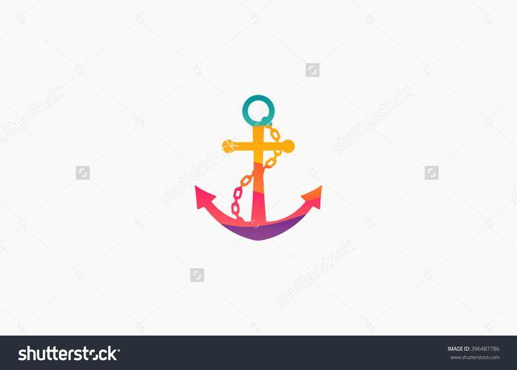 Anchor Logo. Rainbow Logo. Company Logo. Colorful Anchor Стоковая векторная иллюстрация 396487786 : Shutterstock