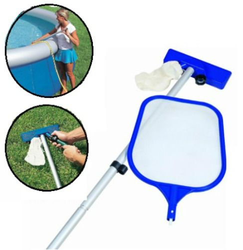 Swimming Pool Cleaning Kit With Net & Vacuum Skimmer Hot Tub Spa Water Cleaning  #Bestway