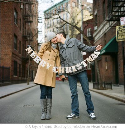 Click to get adorable Christmas Photo Ideas via iHeartFaces.com  #christmas #photography We love this cute couple photo by A Bryan Photo: http://www.abryanphoto.com/blog/2011/01/nyc-christmas-film-is-back-2/