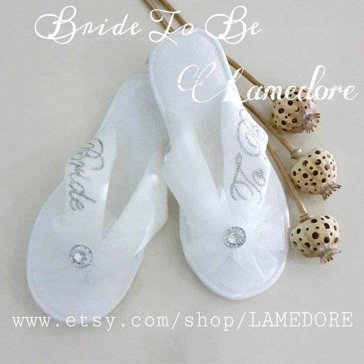 Brides Wedding Slippers Honeymoon slippers - Velour flip flop slippers Bridal shower slippers bridal wedding women bride flip flops bridesmaid for her summer flower gifts floral shoe 29.90 USD #goriani