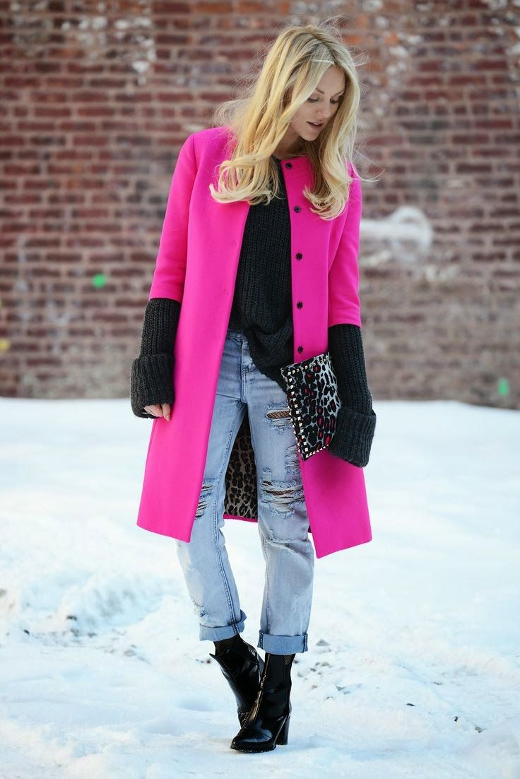 97 best Pink coat outfits images on Pinterest | Pink coats, Fall ...