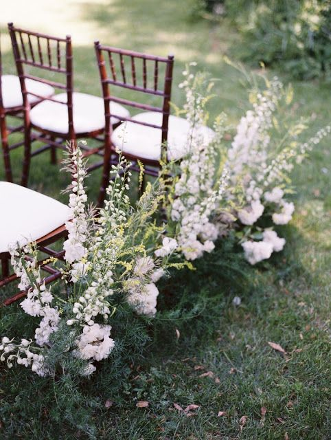 Wildflower walkway for the aisle by Sarah Winward, photo by Leo Patrone