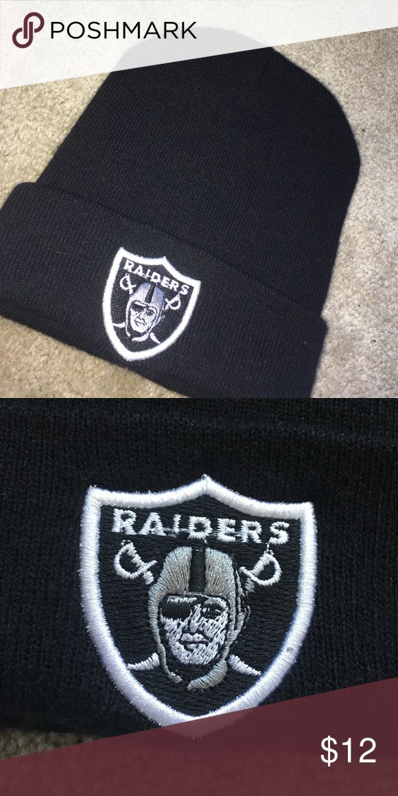 Raiders Beanie Worn A Couple Times, Like-New Condition Accessories Hats