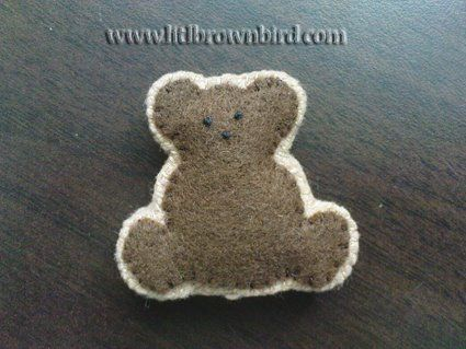 Little stuffed bear - how to make felt animals DIY