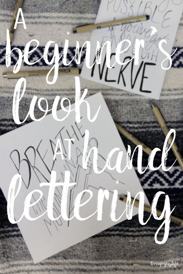 how to hand draw lettering