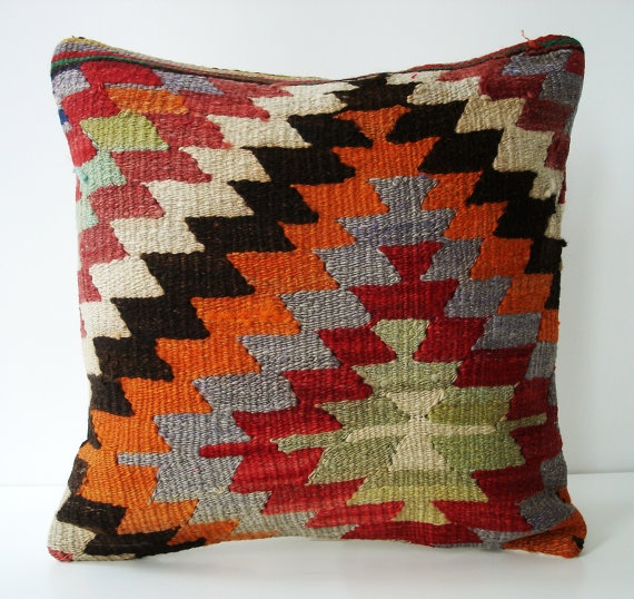My newest obsession! Trying to find the perfect grouping of kilim pillows for the couch.