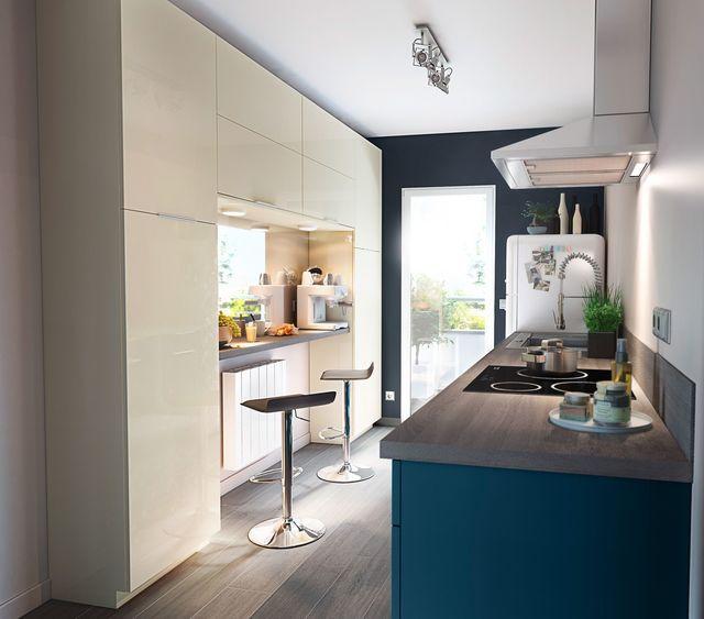 20 best Bleues \ apaisantes images on Pinterest Kitchens - hotte integree dans meuble haut