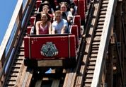 The Beast. Come feel the excitement on the longest wooden roller coaster in the world as The Beast unleashes its awesome power on the unsuspecting. The Beast sprawls across a densely-wooded, 35-acre site at speeds up to 65 miles per hour!   Height Requirement: 48 inches Kings Island