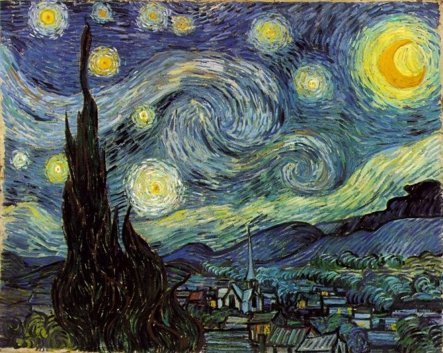 빈센트 반 고흐 [Vincent van Gogh] - 별이 빛나는 밤에