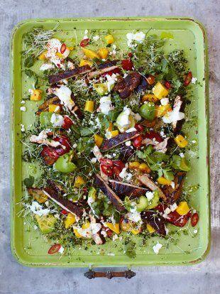 Blackened Chicken & Quinoa Salad | Chicken Recipes | Jamie Oliver  phase 3 just skip the cheese and yogurt