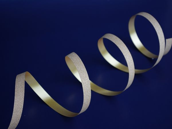 Curling ribbon with a bit of bling!