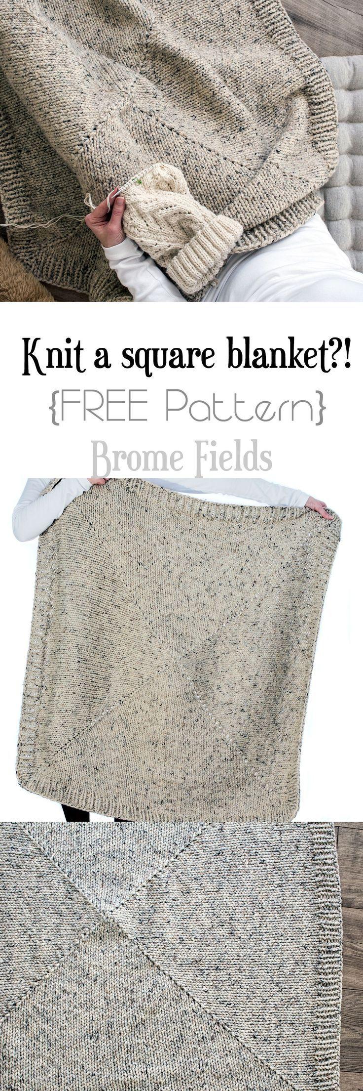 Padrão de tricô cobertor quadrado livre