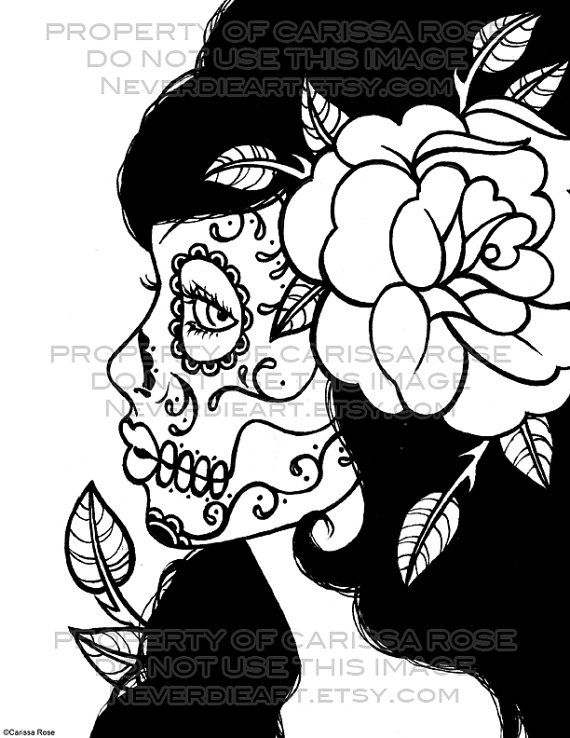 Coloring Pages For Adults Skull : 22 best dessin images on pinterest