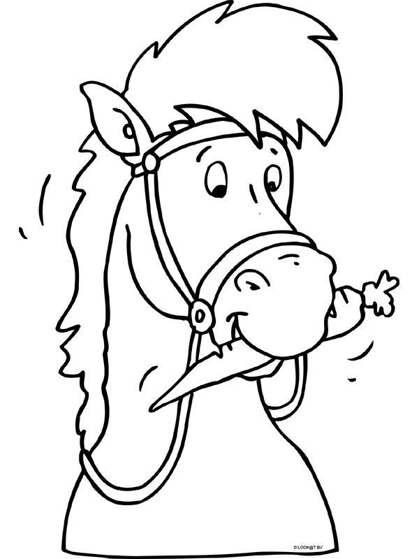 Kleurplaat: Paard Sinterklaas