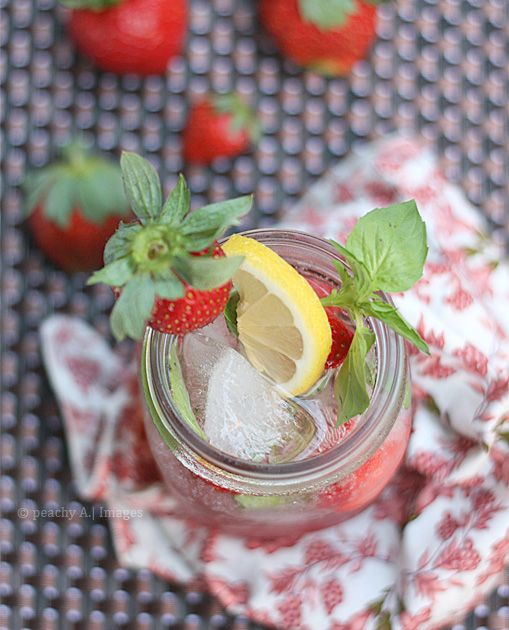 Alcohol-Free Strawberry Basil Mojito! | Favorite Recipes | Pinterest