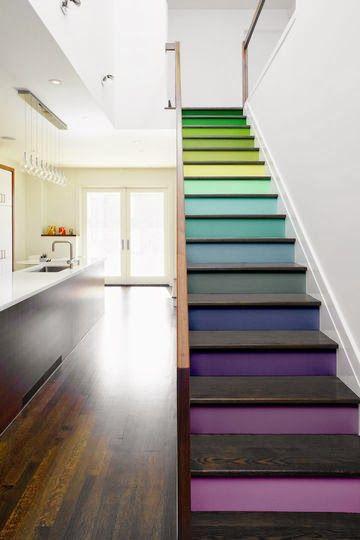 Leichtes Selbermachen - Treppenstufen farbig gestalten!