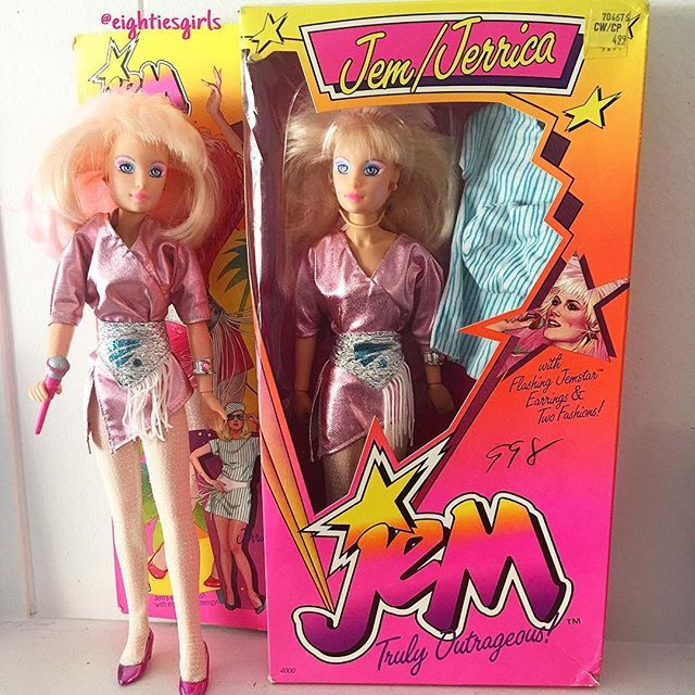 Finally own her in the box .. one of my favorite dolls ever made! #80s #jem #jemandtheholograms #jerrica #trulyoutrageous #vintagetoys #childhoodmemories #nostalgia #rememberthis #80stoys #hasbro #dolls #toycollector #eightiesgirls #80skid #ilovethe80s #totally80s