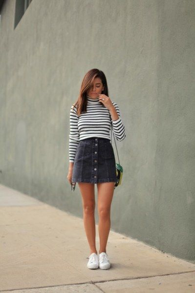 Combine denim skirt: THESE styling rules dominate fashionable women!