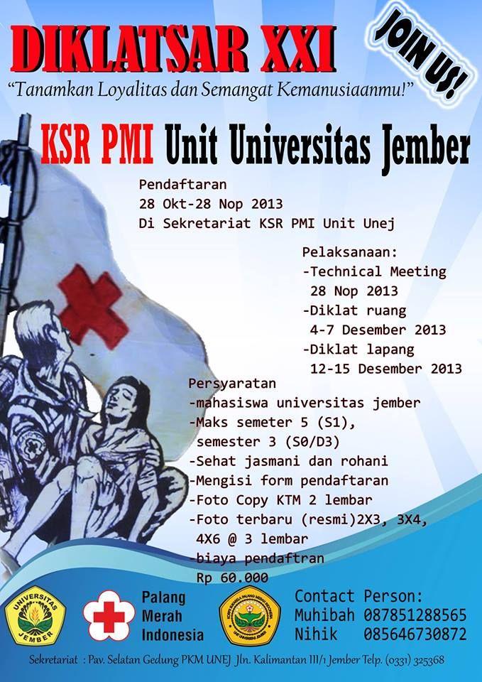 Diklatsar KSR PMI Universitas Jember 2013