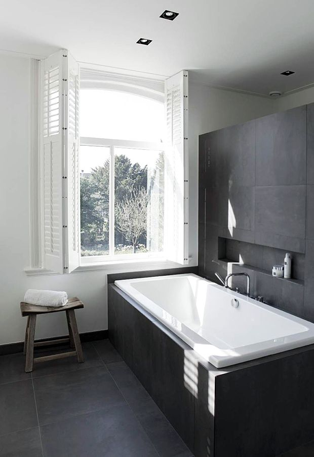 Dark autumn evenings are the perfect excuse for long, indulgent soaks in the tub, so it seemed appropriate to pick a bathroom for this month's 'Room Envy' post. This beautiful black and white example sits in a restored Dutch farmhouse, and it instantly caught my eye because of its sophisticated, minimalist design. It's a large …