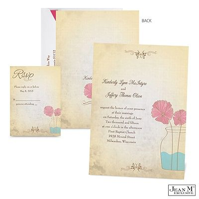 these dainty flowers signify the blooming beauty of love click through for the rustic vase wedding invitation from michaels - Michaels Wedding Invitations