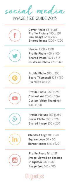 Social Media Image Size Guide 2015!