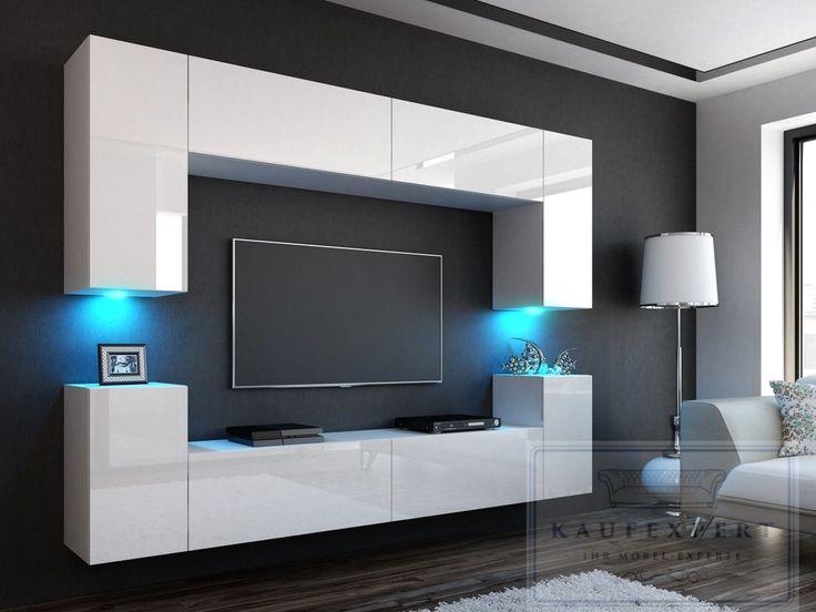 Die besten 25+ Wohnwand hochglanz Ideen auf Pinterest Tv wand - wohnzimmer weiß hochglanz