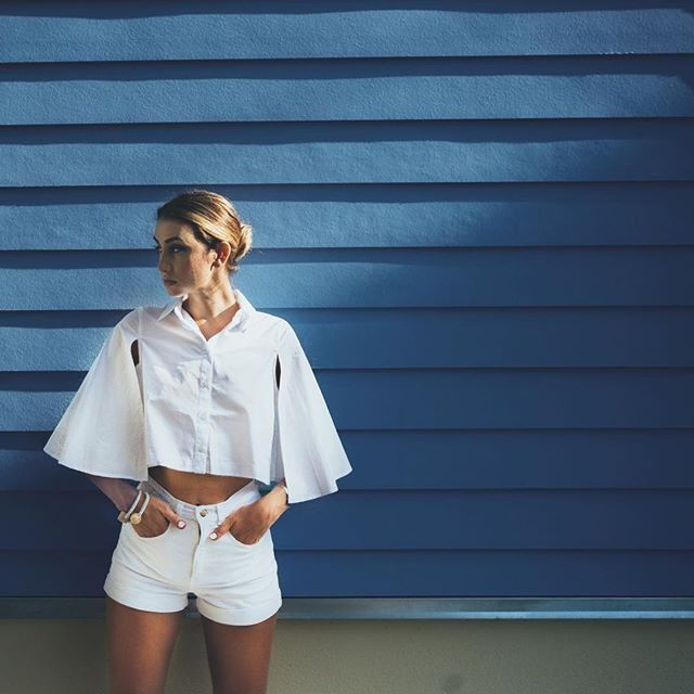 Reinventing the white shirt. #NastyGalsDoItBetter
